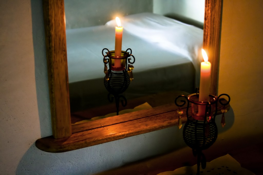 Candle in Bedroom