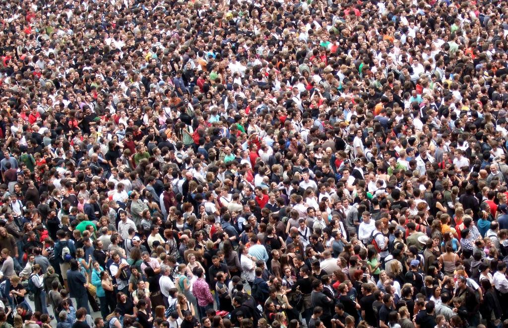 dense crowd