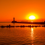 Duluth Lighthouses Sunrise