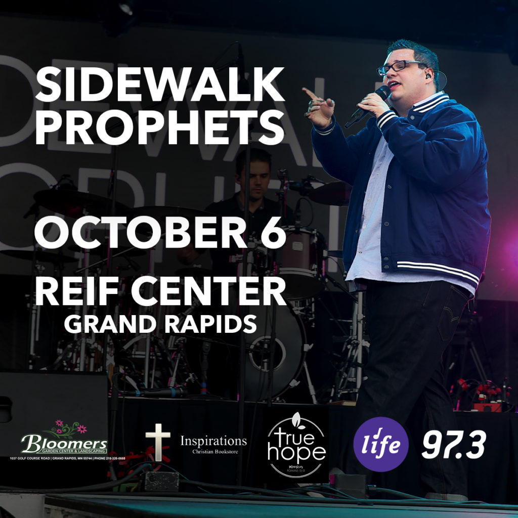 Christian Recording Artists Sidewalk Prophets performing in concert